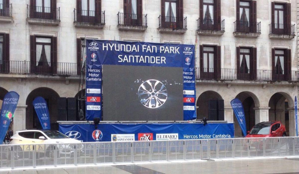 Fun Park de Hyundai para la  Eurocopa 2016
