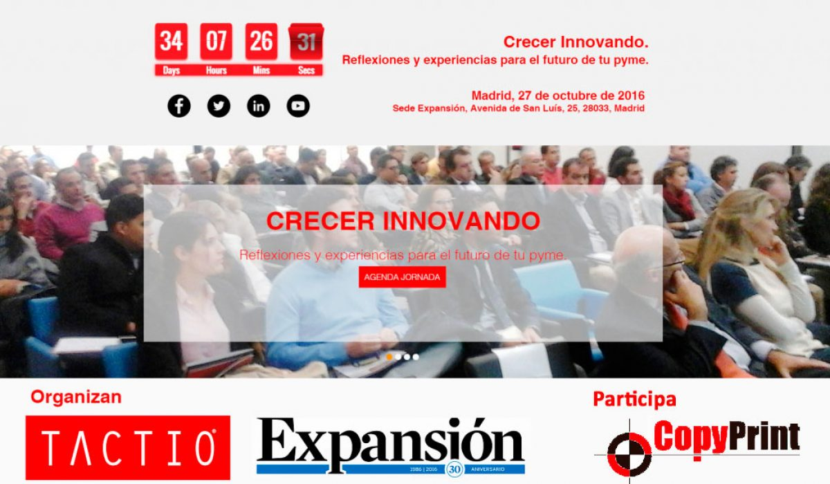 """Copy Print participa en la Jornada """"Crecer Innovando"""" de Expansión"""