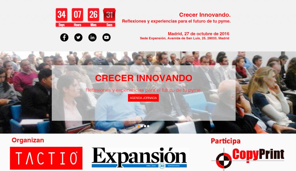 Copy Print participa en la Jornada «Crecer Innovando» de Expansión