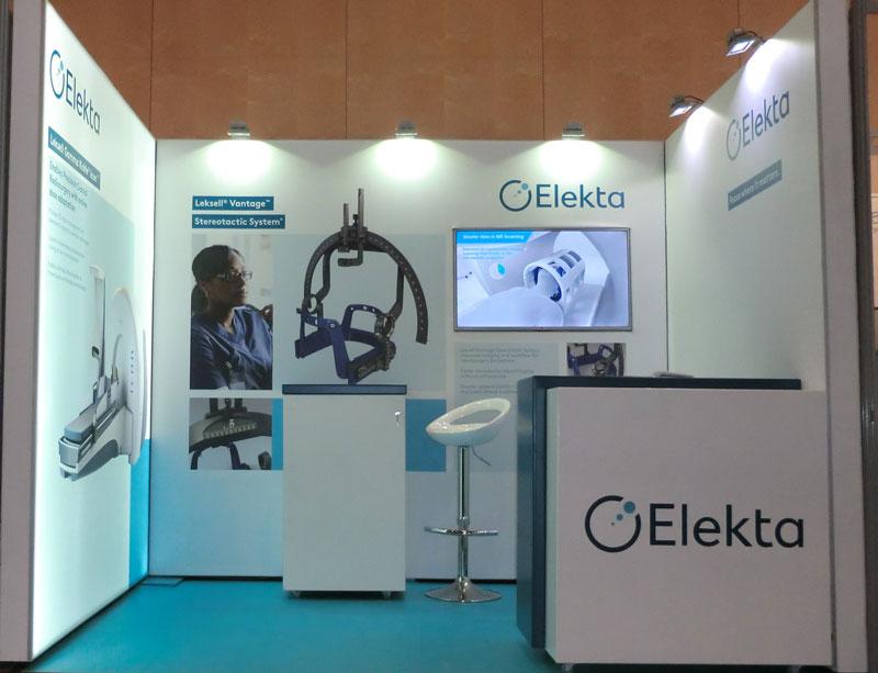Fabricación y diseño de stand de Elekta