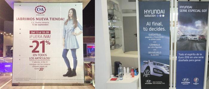 Impresión textil para decorar oficinas. CopyPrint Madrid