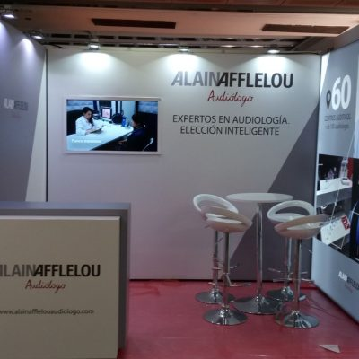 Fabricación mostrador y stand para Alain Afflelou