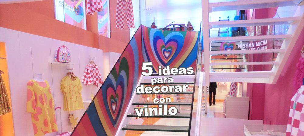 5 ideas de decoración con impresión en vinilo